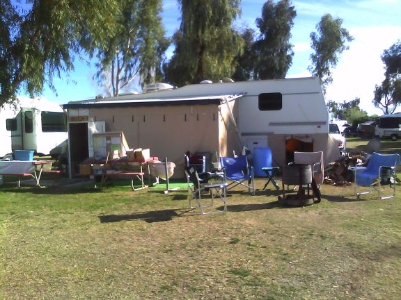 Camping at Mayflower