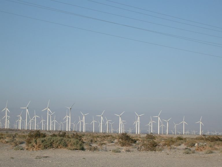 Wind farms around Palm Springs