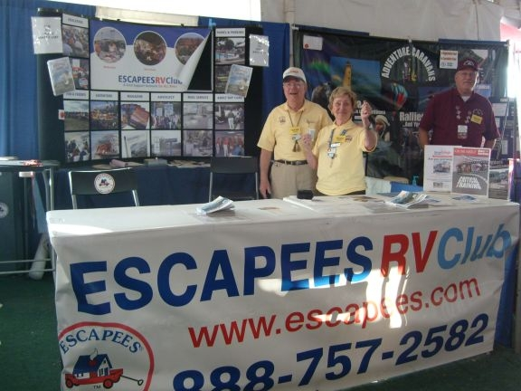 Escapees group booth