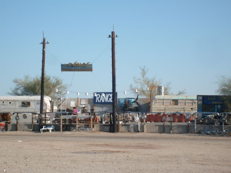 The Range cafe at Slab City