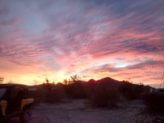 Sunrises/sunsets are awesome in Quartzsite