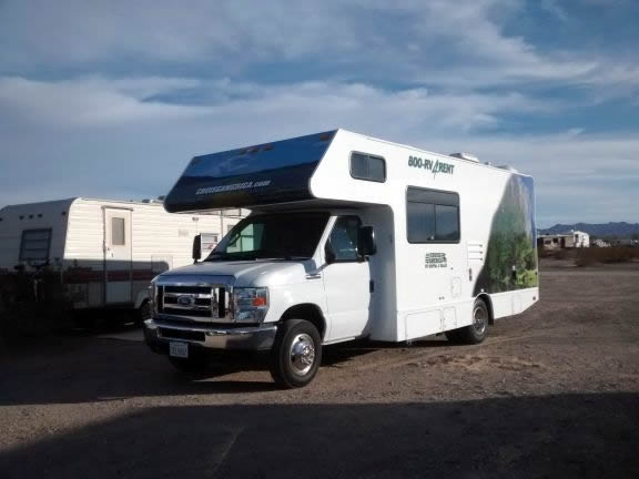 Lots of rented RVs camping